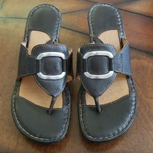 Born brown wedge sandal